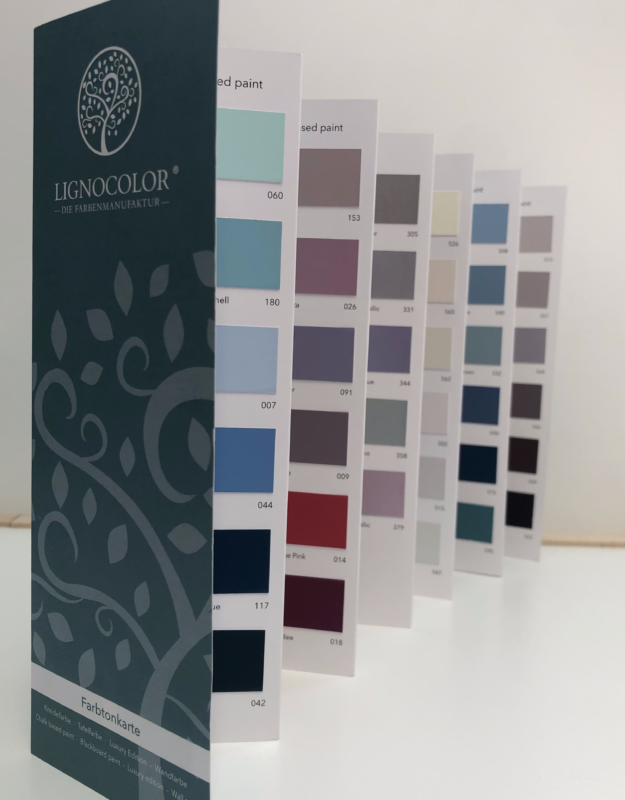 Lignocolor  színkártya- 130 szín-krétafesték, falfesték, táblafesték, metálfesték
