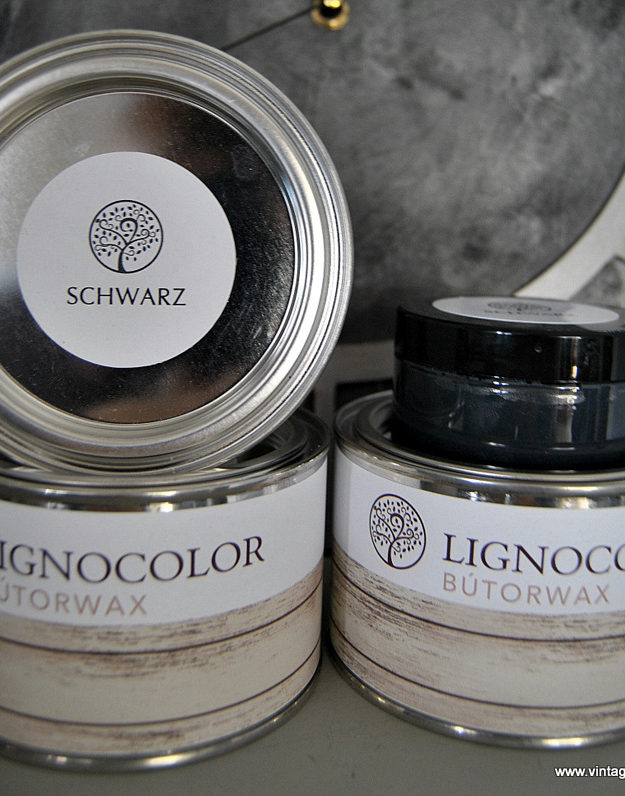 Lignocolor Bútorwax Fekete MATT 100 ml
