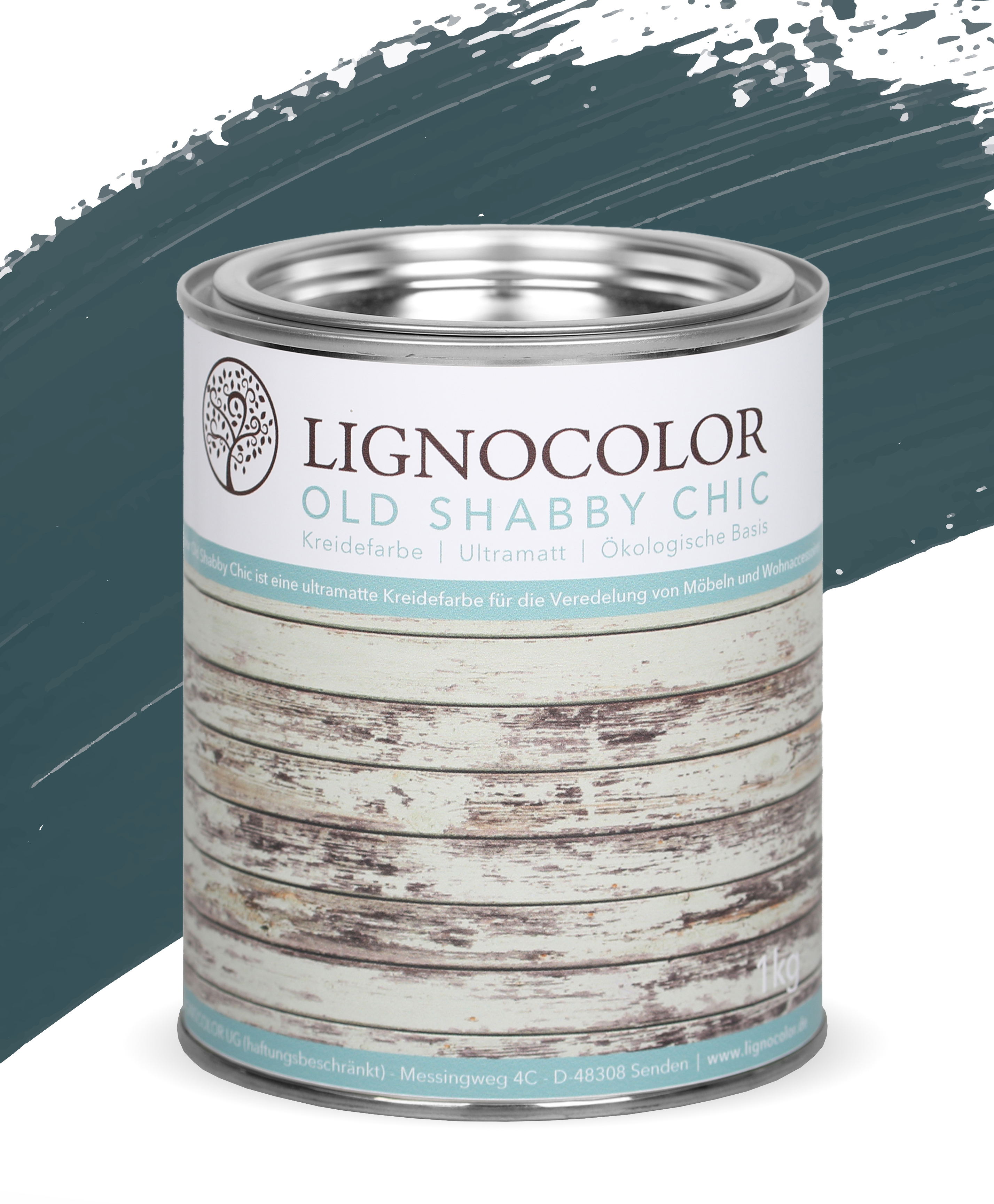 Lignocolor Old Shabby Chic 1kg_Deep Sea